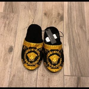 Versace Shoes - Versace Men's Barocco-Print Mule Slippers NWT